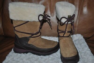 eaeef7af6e0 UGG THINSULATE WATERPROOF Orellen Winter Snow Boots Chestnut Brown Womens  SIZE 7