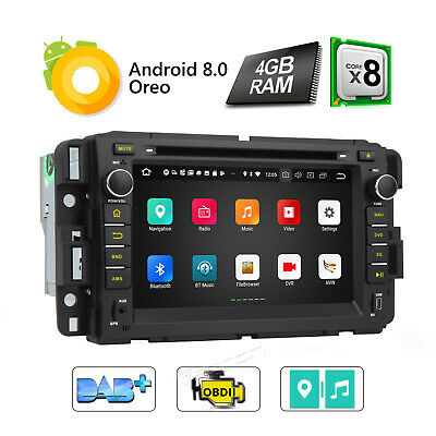 Android 8.0 4GB RAM Car Stereo CD for Chevrolet GMC 4G Octa Core OBD2 Acadia