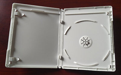 New 10 Pk WHITE 12.5 mm VIVA ELITE Blu-Ray Case Single 1 Disc Storage Holder