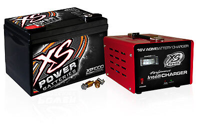 AGM Battery 16v 2 Post & HF Charger Combo Kit