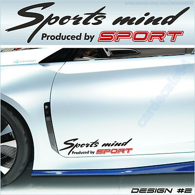 Sports mind produced by TOYOTA #4 Decal Sticker Graphics Camry Avensis Venza I
