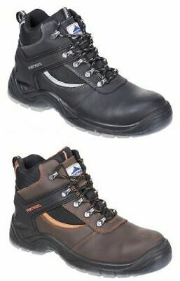 Portwest FW69 Mustang Work Boots, Steel Toe Cap Crazy Horse Leather