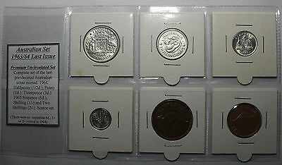 1963/64 Last Issue Australian Year Set - Premium Uncirculated Set (6 coins)