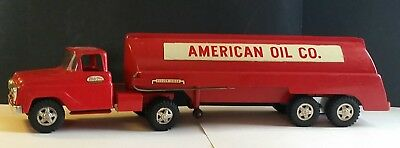 VINTAGE 1960s TONKA PRIVATE LABEL AMERICAN OIL CO. GAS TANKER AN TRUCK