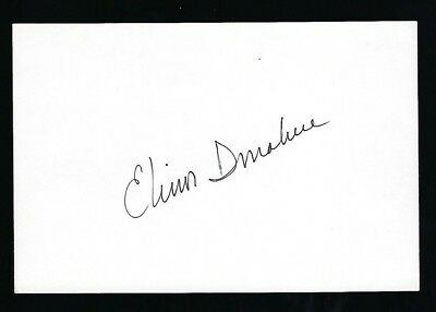 """Elinor Donahue signed 4""""x 6"""" card """"Andy Griffith Show"""" & """"Star Trek"""""""