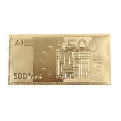 Sets 24K Gold Foil Plated Euro Gold Notes Collect Business Gifts Currency new