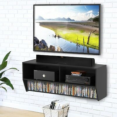 FLOATING TV Stand Wall Mounted Media Console Storage Shelf For AV ...