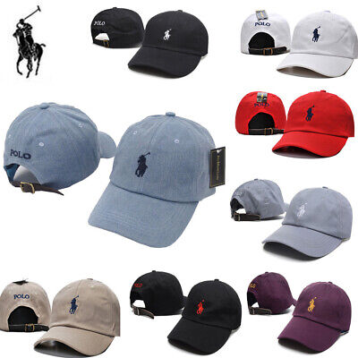 New Men Women Polo Cap with Fine Embroidery Small Pony Logo Hat Baseball Cotton
