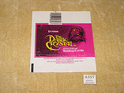 Dark Crystal Trading Card Packet Wrapper Flat Ready To Frame - 1982 Henson - Usa