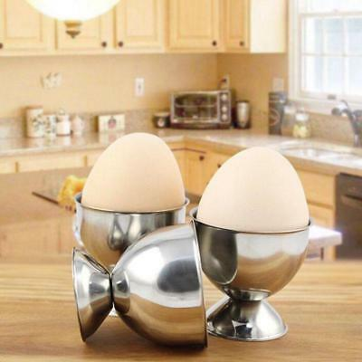 4 Pcs Stainless Steel Egg Cup Soft Boiled Eggs Holder Stand Storage Kitchen Tool