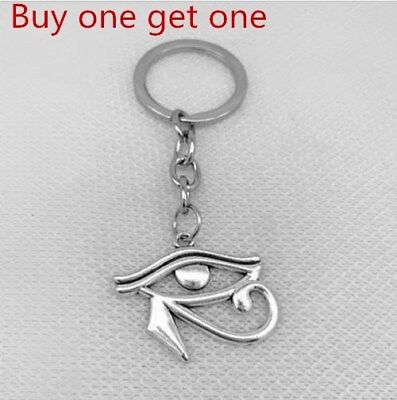 Eye of isis horus egyptian protection ancient silver alloy key chain gift