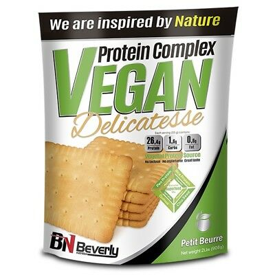 Beverly Nutrition - Protein Vegan Delicatesse, 900 G, Galletas Petit Beurre
