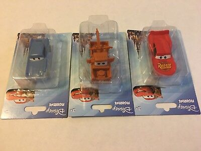 Disney Pixar Cars Figures Cake Topper 3pk  Tow Mater, Lightening Mcqueen, Finn