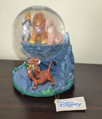 Disney LION KING MUSICAL SNOW GLOBE, PLAYS CIRCLE OF LIFE SONG, Wind-Up