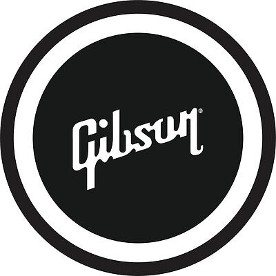 "Gibson Guitar 7"" Black and White Metal Sign"