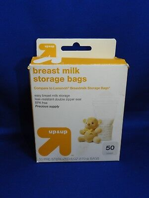 50 ct Box NEW Up & Up Breastmilk Storage Bags