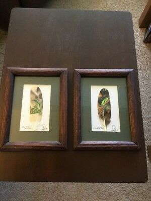 Costa Rica Painted Feather Art