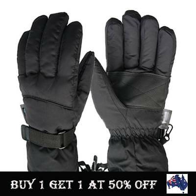 Mens Snow Ski Gloves Waterproof Insulated Motorbike Winter Outdoor Sports Gloves
