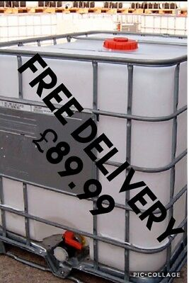 Ibc Tank 1000 Litres ( FREE DELIVERY ) water Bowser Water Butt All In £89.99
