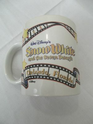 VINTAGE 70's WALT DISNEY SNOW WHITE MOVIE GRUMPY COFFEE MUG ORLANDO FLORIDA