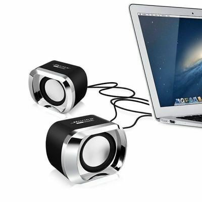 Computer Speakers 2.0 Usb 3.5 Multimedia Pc Laptop Desktop System Stereo Sounds