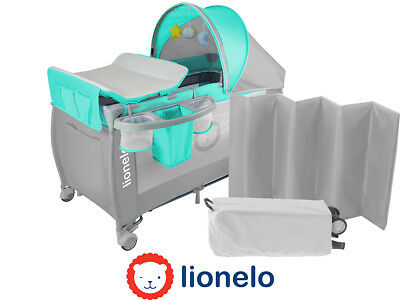 Lionelo Sven Plus Grey Baby Bed Baby changing + Rocking mode + Mosquito + Music