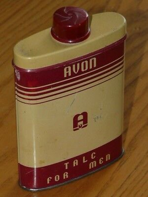 Vintage AVON Talc for Men Tin Can - Approx. ½ full