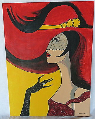 French Femme Rouge paint art deco Paris mid century bauhaus décor modernist