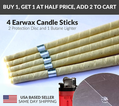 4 Pcs Earwax Candle Beeswax Scented Hollow Wax Candle Natural Aromatherapy Blend