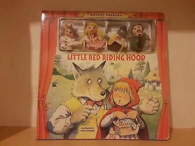 Vintage Little Red Riding Hood Finger Puppet Theatre Book By Peter Stevenson