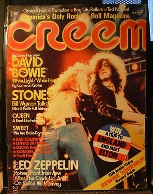Creem Magazine May 1976 - Led Zepplin On The Cover