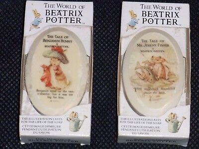 "Vintage 1988 ""The World Of Beatrix Potter"" Illustrated Soap (2)"