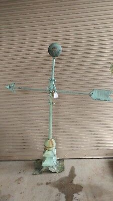 Antique Weathervane Copper Arrow * Copula * Large Excellent