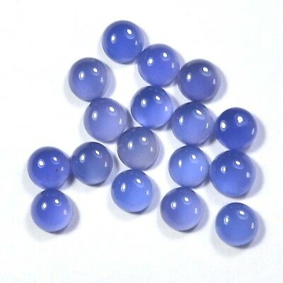 34.20 Ct Natural Royal blue Chalcedony 10mm Round Cabochon gemstone 8 piece Lot