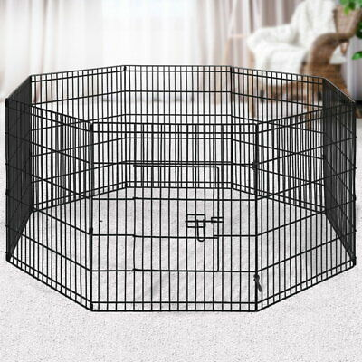 Dog Playpen 8 Panel Pet Rabbit Guinea Pig Puppy Duck In/Outdoor Foldable Fence