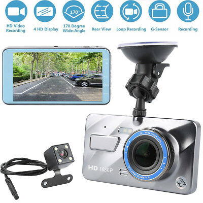 4Inch Dual Lens HD 1080P Car Video Recorder Camera Dash Cam DVR Night Vision MK1