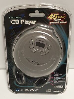 Audiovox Programmable Personal CD Player Vintage 2001 New Old Stock Rare