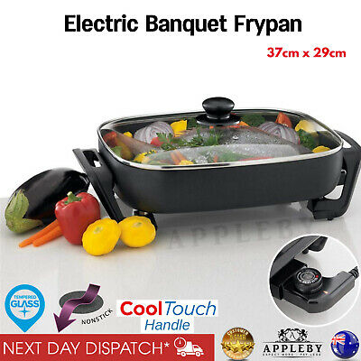 Sunbeam Electric Frypan Family Size Large Non Stick Frying Pan Cookware Lid