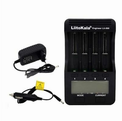 Liitokala Lii - 500 Intelligent 4 Slots LCD Li-ion Battery Charger Ni-MH NiCd