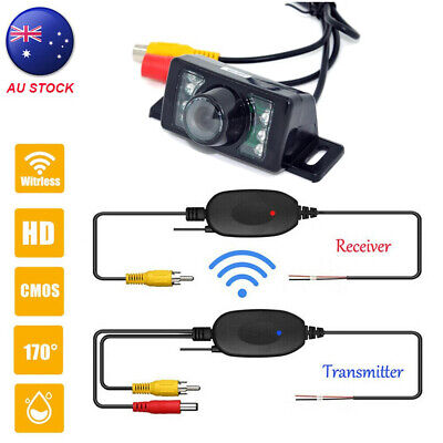 Wireless Car Rear View Kit 4.3'' Foldable LCD Monitor + IR 7LED Reversing Camera