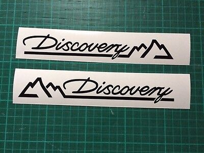 LAND ROVER DISCOVERY Mountain Top x2 Decal 4X4 body Window sticker