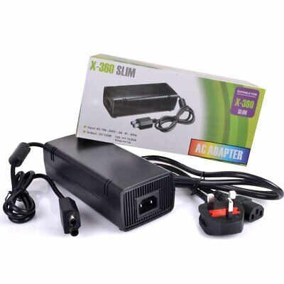Power Supply for Microsoft Xbox 360 Slim Brick Adapter UK Mains Charger AC