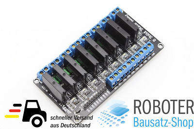 8 Kanal Solid State Relais Modul 5V/230VAC Low Level Arduino, Raspberry, AVR