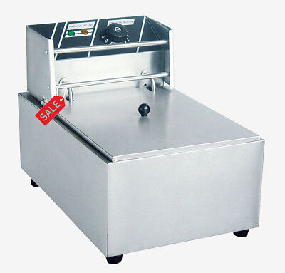 Single Tank Deep Chip Fryer Electric Commercial Kitchen 8 Litre