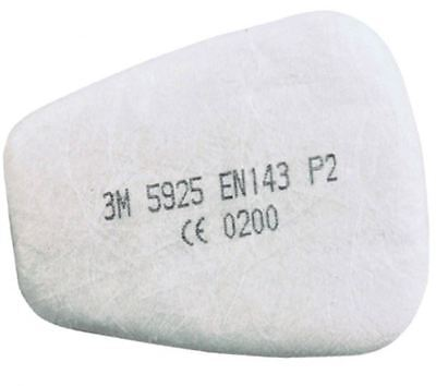 1 Pair 3M 5925 P2 Particulate Filters Pads for 6000 & 7000 Series Dust Masks PPE