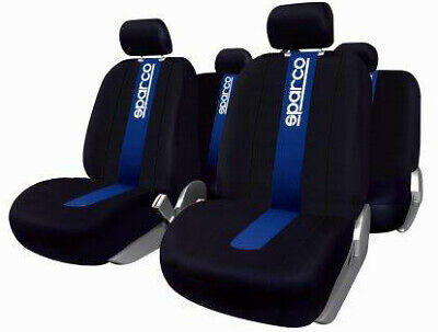 Set Coprisedili Sparco Ant./Post. 100% Poliestere Blu SPARCO