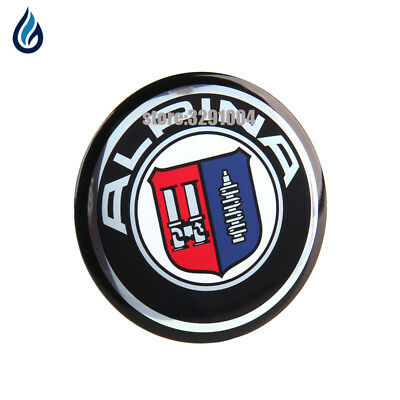4 x ALPINA 65 mm. Resin Wheel Center Caps Logo Badge Decal Emblem Sticker BMW