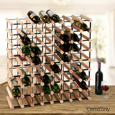 Wine Rack Timber Bottle Storage Display Stand Holder Bar Furniture 72 Bottles