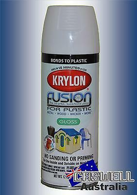 Krylon Fusion Plastic Paint 340gm - Gloss White- AUS Seller