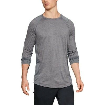 (XX-Large, Charcoal (020)/Black) - Under Armour Men's MK-1 Long Sleeve Shirt